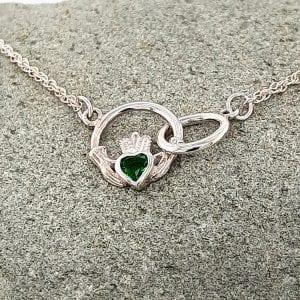 claddagh loop necklace