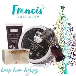 keep him happy francis soap shop