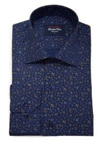 twelve pins navy floral shirt